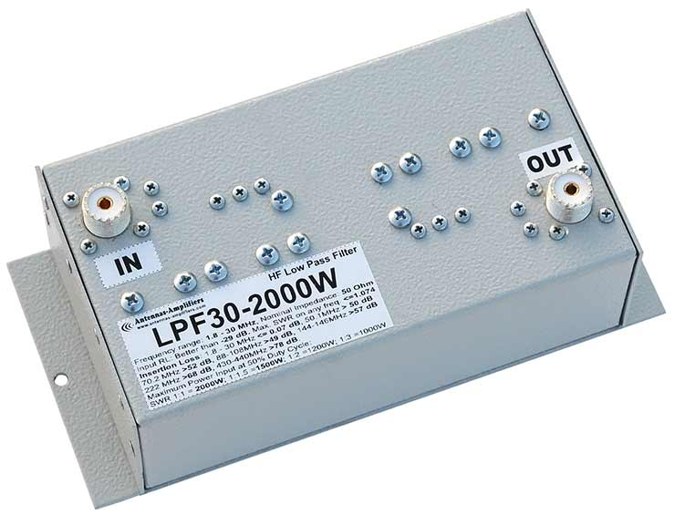2kW HF Low Pass Filter 2000W Low Loss 2000 W Teflon Connectors