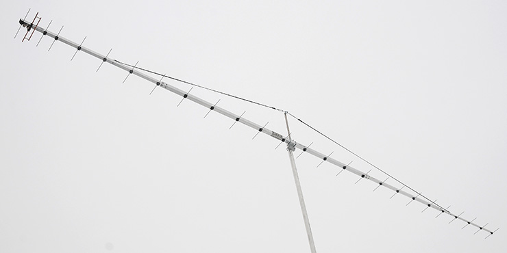 High Gain Antenna for detection of an extra galactic radio object 406-411MHz