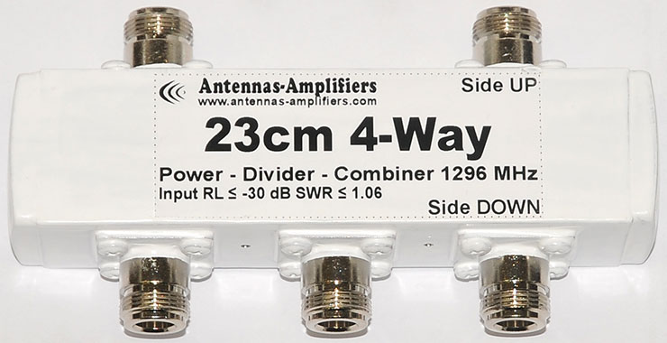 23cm-4-port-wideband-power-divider-1296MHz