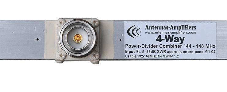 2m-144MHz-Power-Splitter-4-Way 1/2wl long DIN