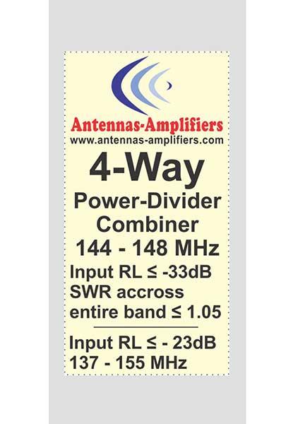 2m Power-Divider-Splitter-4-Port 144MHz
