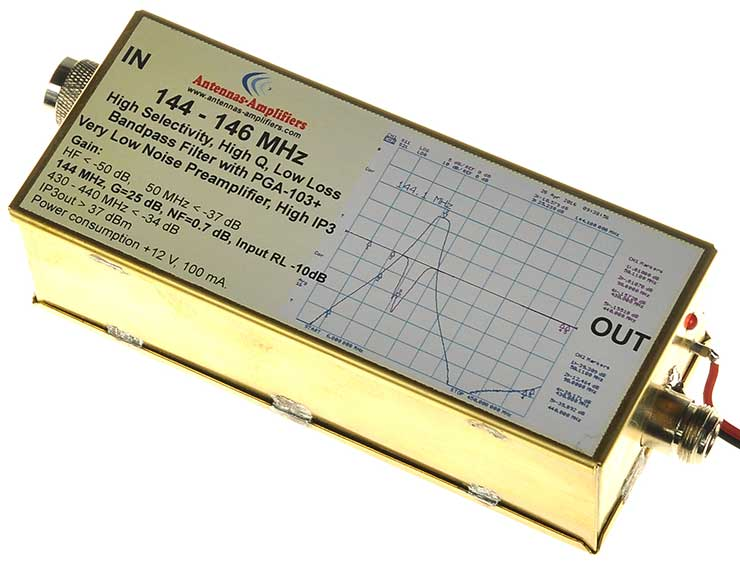 2-meter-144-Mhz-Filter+Amplifier-Low-Loss-Band-pass-Filter-with-PGA-103+-Very-Low-Noise-Preamplifier-High-IP3-made-by-antennas-amplifiers.com