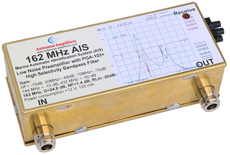 AIS-Preamplifier-162-MHz-Band-Pass-Filter-Marine-Tracking