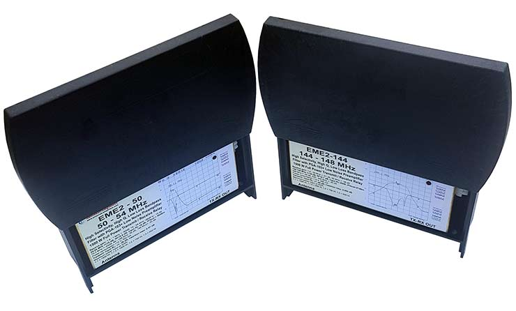50MHz and 144 MHz Outdoor Transmit - Receive Relay Switches Low Noise Preamplifier Band Pass Filter 1500W EME2-50 and EME2-144