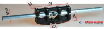 "VHF Dipole Holder ""Max AIR"" Square Boom 20mm"