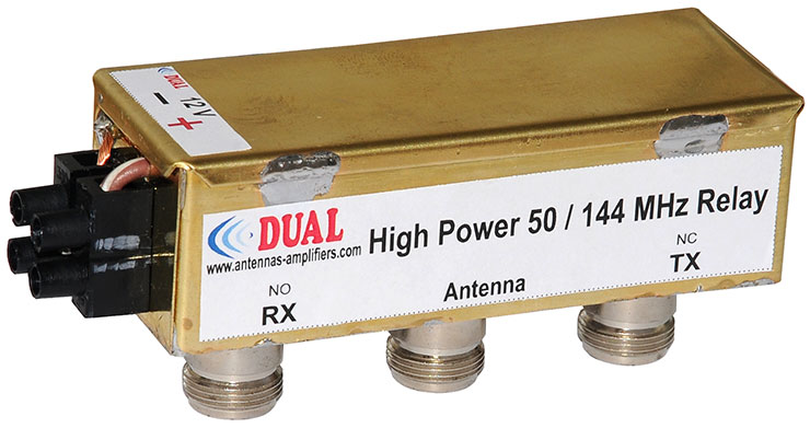 """Cheap High Power 50 - 144 MHz Relay with """"N"""" connectors"""