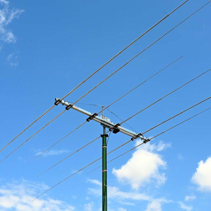 Tri-band 6 element HF Upper Bands and CB Radio Yagi Antenna 3B-222HD Full Coverage