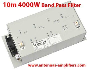 10m High power band-pass filter 4kW