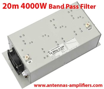 20m, 14MHz High power band-pass filter 4kW