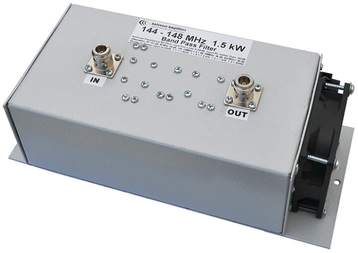 144 - 148 MHz, 2 Meter band High Power Bandpass Filter 1500W