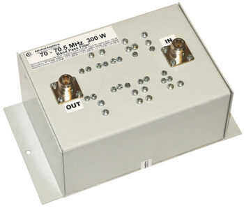 70 MHz 300 W High Power Low Loss Bandpass Filter