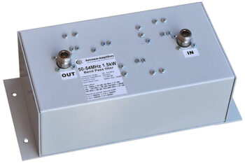 6 Meters Low Loss Band-Pass Filter 1.5 kW, 50 - 54 MHz