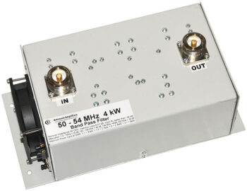 6 Meters Low Loss Band-Pass Filter 4 kW, 50 - 54 MHz