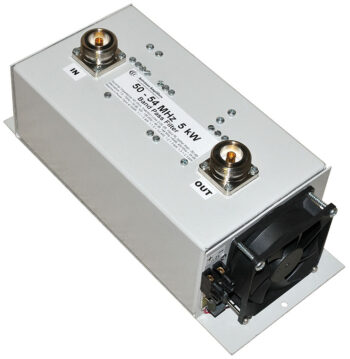 6 Meters Low Loss Band-Pass Filter 5 kW, 50 - 54 MHz