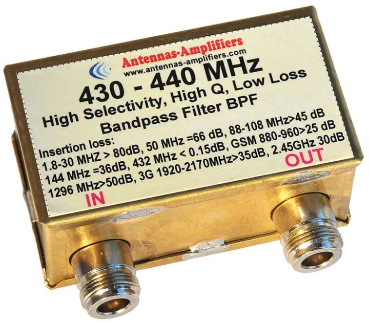 430 - 440 MHz Ultimate Bandpass Filter