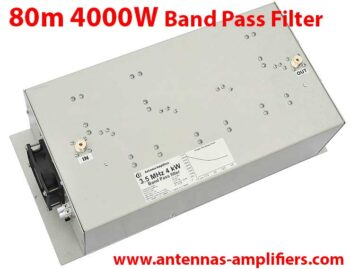 80m, 3.5 MHz High power band-pass filter 4kW