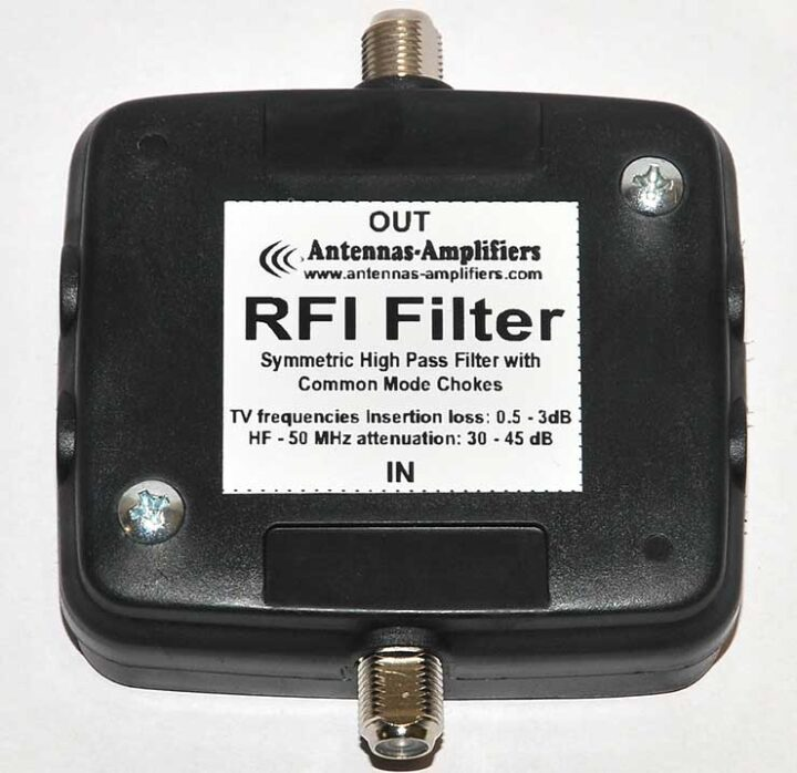 RFI Interference Filter with Common Mode Chokes HF - 50 MHz