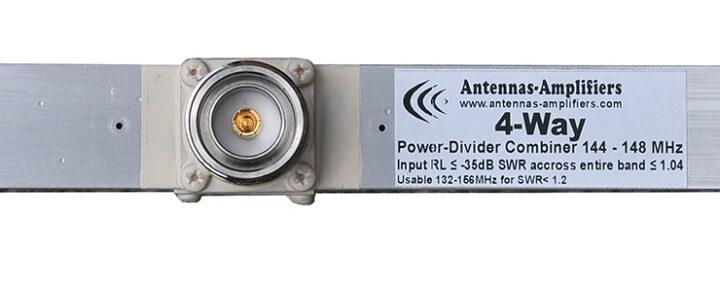 2meter WideBand Power Divider 4-Port Combiner 1/2 wl 7/16DIN