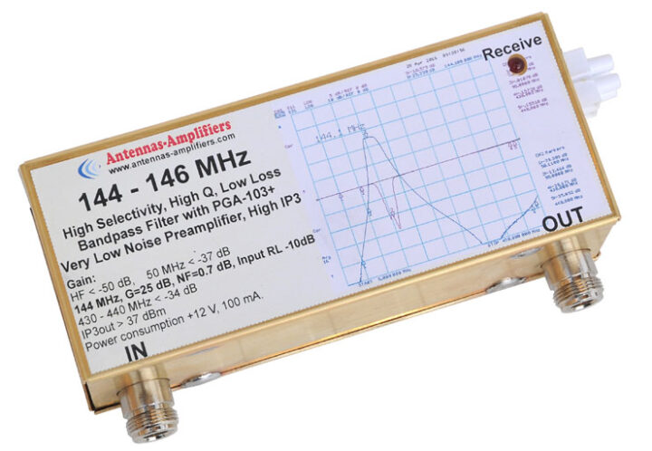 144 - 146 MHz VLNA with Band-pass Filter